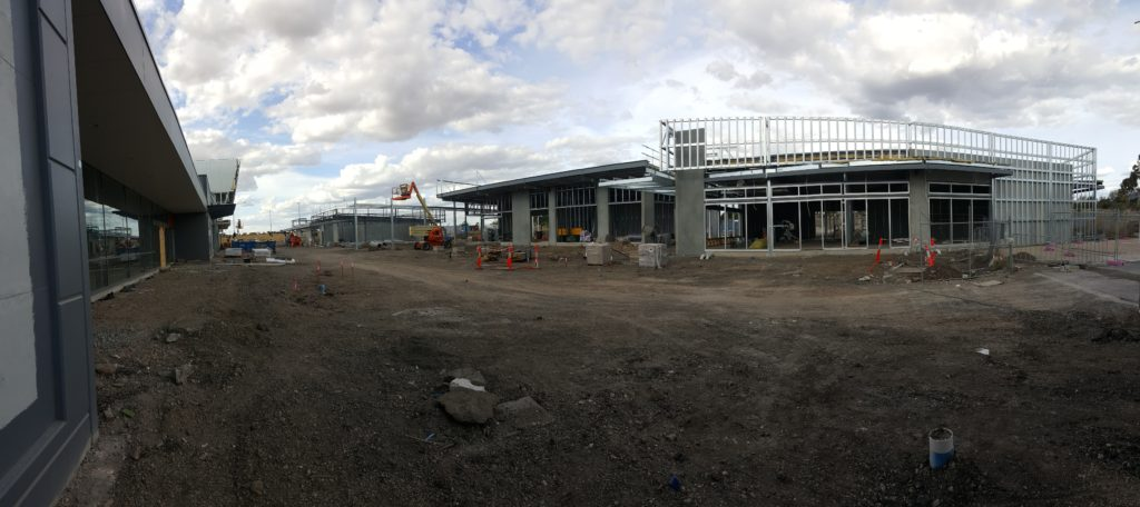 Building C-D and ALDI Supermarket Panorama