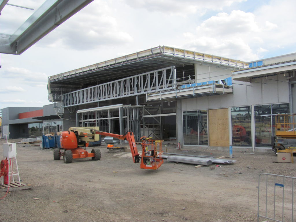 Front Facade Steel Framing