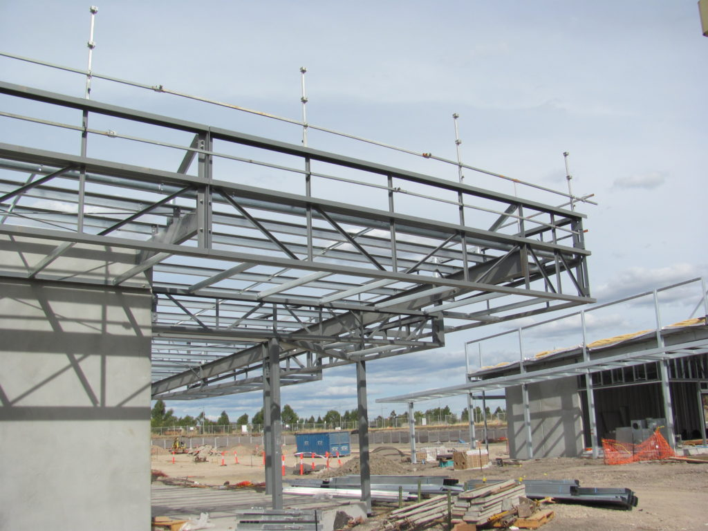 Building B Steelwork Erection